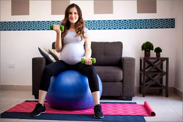ejercicios en casa durante el embarazo